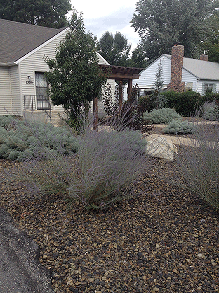 Boise bench xeriscape stack rock group landscape for Boise residential architects