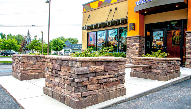 Taco Bell State Street Stack Rock Group Landscape