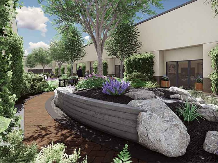 Saint alphonsus bown crossing clinic stack rock group for Landscape design boise