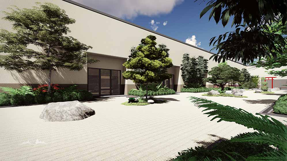 Hospital courtyard concept 1 stack rock group for Architects in boise idaho