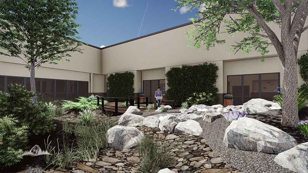 Hospital courtyard concept 2 stack rock group for Boise residential architects